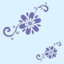 海之氧硅藻泥花海系列之花艺图案一